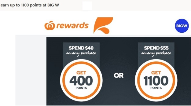 Qantas Points Free at Big W
