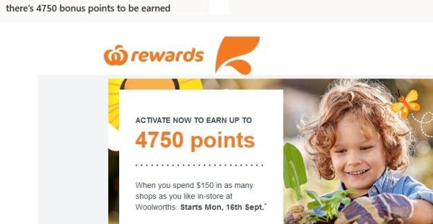 Qantas Points Free at Woolworths