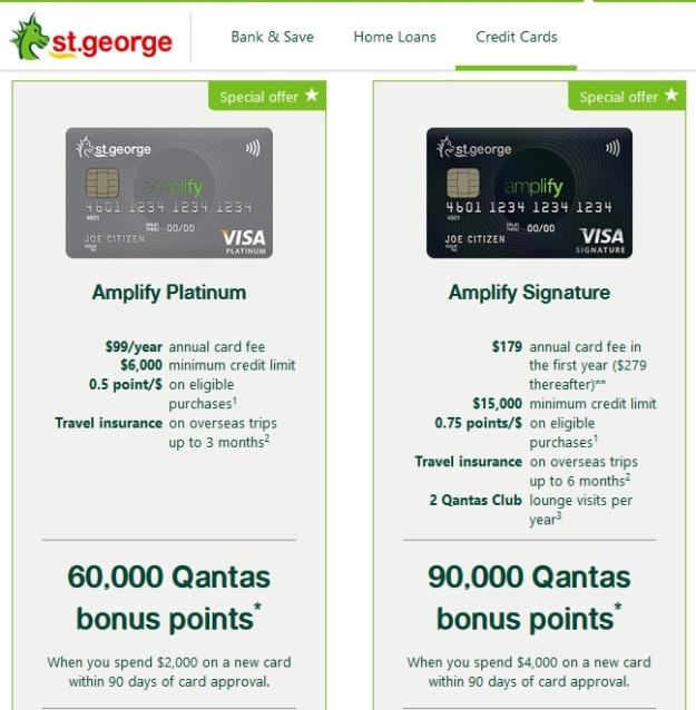 Qantas Points Free St George Visa Credit Card.jpg