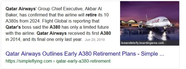 Qatar Airbus A380 to retire and stop flying.jpg