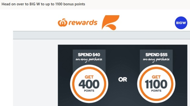 Woolworths Reward Bonus Points at BigW to Qantas.jpg