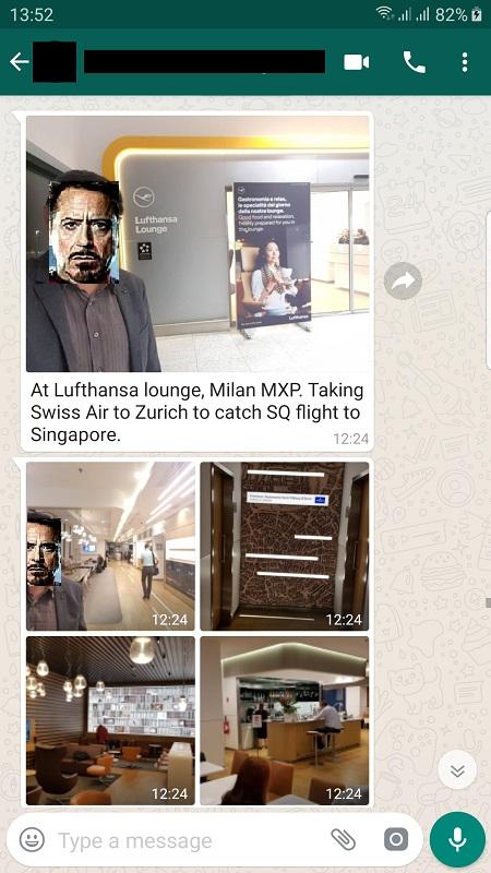 Lufthansa Lounge Milan Airport 1