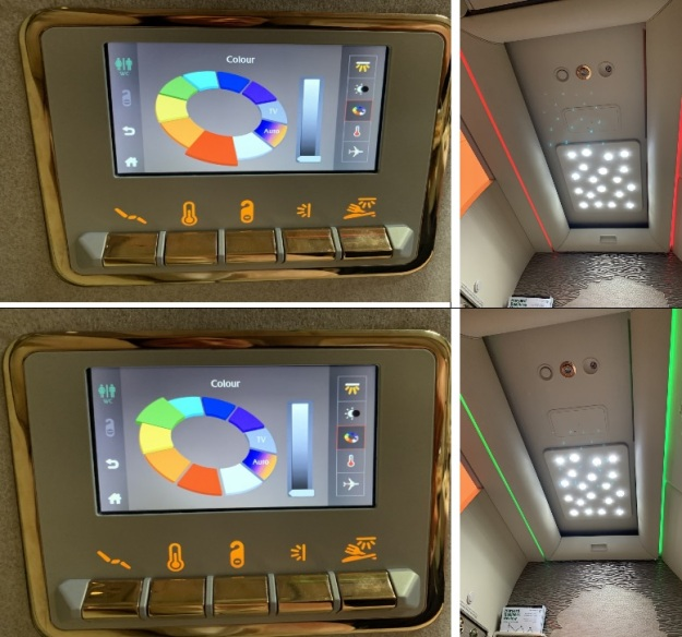 Emirate NEW First Class Boeing 777 Control Panel Ceiling Light.jpg