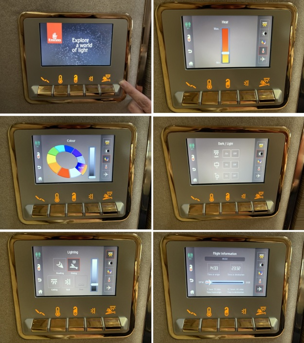 Emirate NEW First Class Boeing 777 Control Panel.jpg