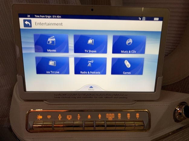 Emirate NEW First Class Boeing 777 Entertainment 1.jpg