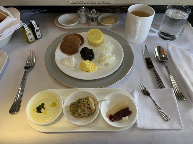 Emirate NEW First Class Boeing 777 Food 1.jpg