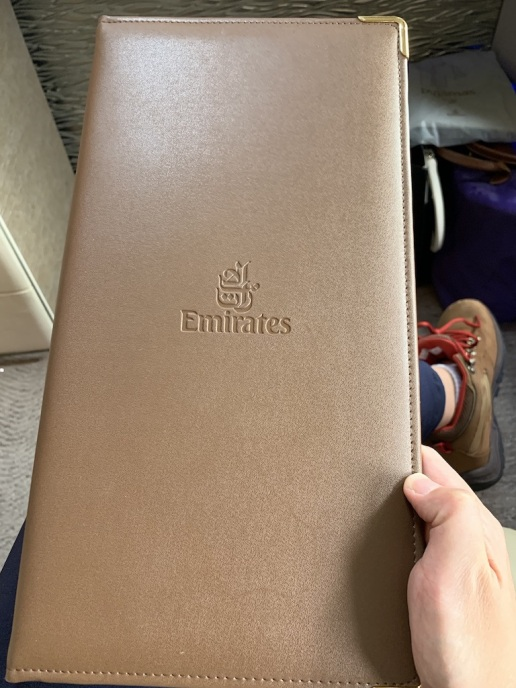 Emirate NEW First Class Boeing 777 Food Menu 1
