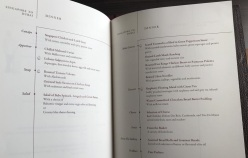 Singapore Airlines First Class Boeing 777 Dubai Menu 1