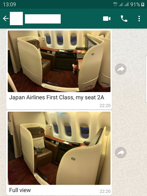 Japan Airlines JAL First Class Review Tokyo to New York USA 1