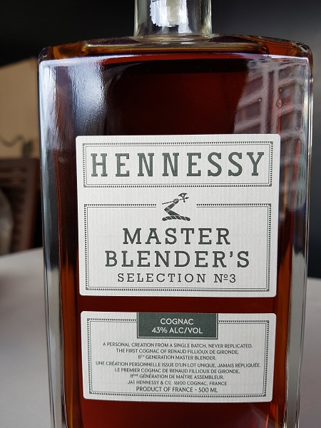 Hennessy Master Blenders No.3 2018 Limited Edition Cognac Front Close Up