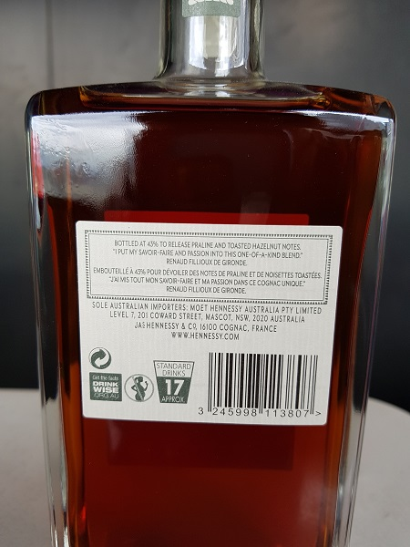 Hennessy Master Blenders No.3 2018 Limited Edition Cognac Rear Label