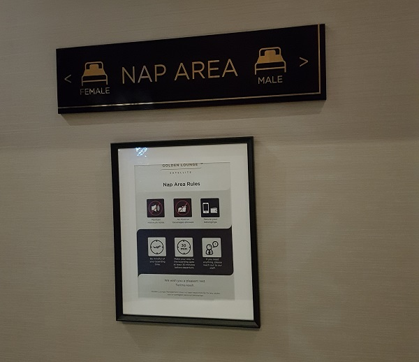 Malaysia Airlines Golden Lounge KLIA Nap Area 1