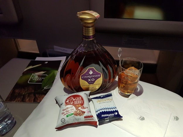 GenX Live Travel Report Malaysia Airlines Business Class Melbourne to Kuala Lumpur Courvoisier XO Cognac 2