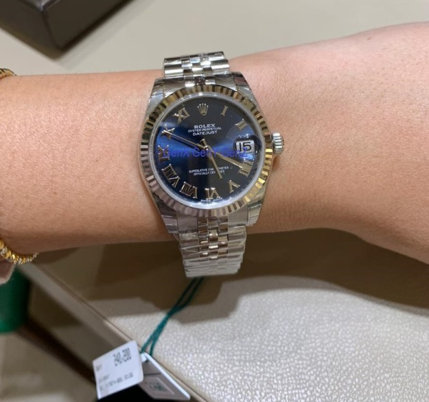 Rolex DateJust 31mm Stainless Steel Blue Dial
