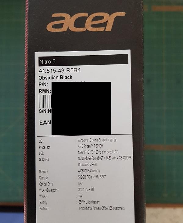 Acer Nitro 5 Ryzen 7 2