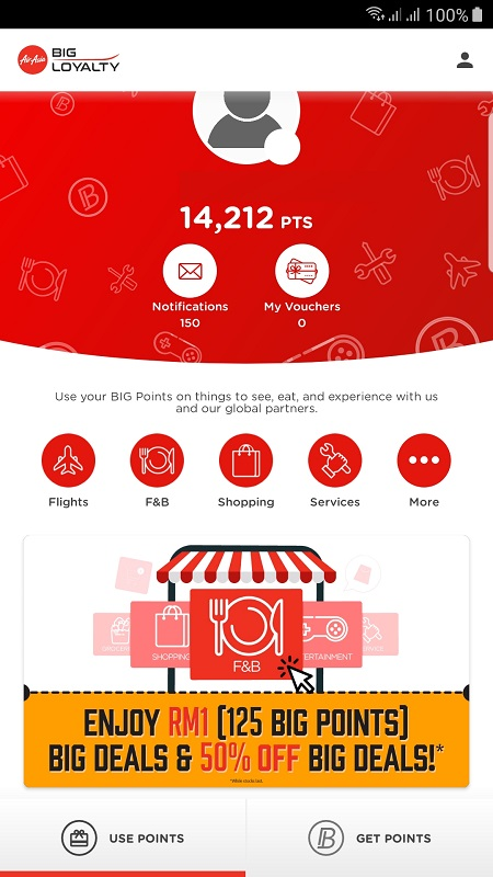 AirAsia Big Points to redeem cash vouchers
