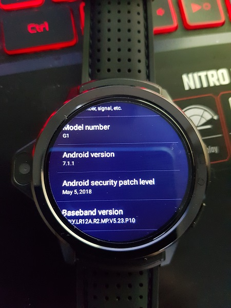 Kronos Blade Genesis Best Android 7 Smartwatch Review SIM SLOT