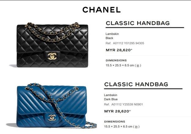 Chanel Mid Classic Flap Black Handbag Malaysia Price