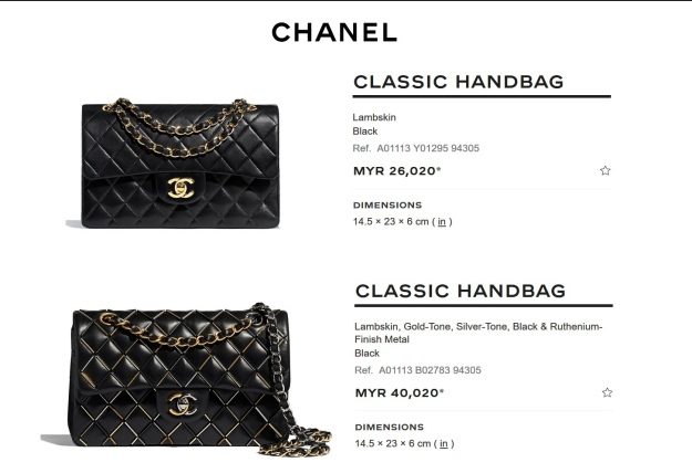 Chanel Small Classic Flap Black Handbag Malaysia Price