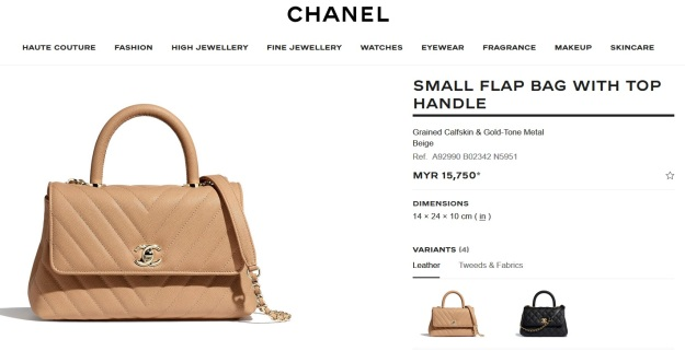 Chanel Small Flap Bag With Top Coco Handle Malaysia Price
