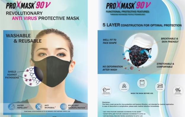 ProXMask 90V Antivirus Face Mask
