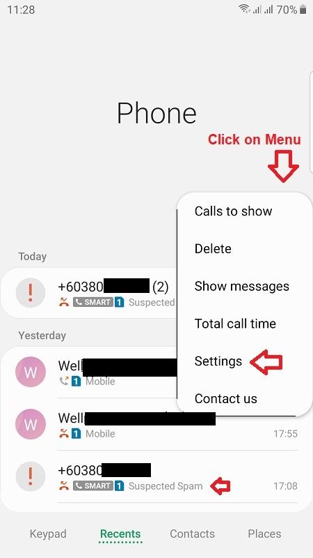 Samsung Smart Call Caller ID Spams Scams 2