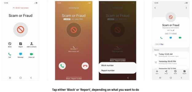 Samsung Smart Call Spams Scams 2