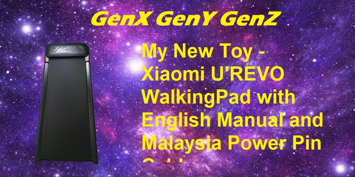 Xiaomi UREVO U1 Walking Pad with English Manual and Malaysia Plug