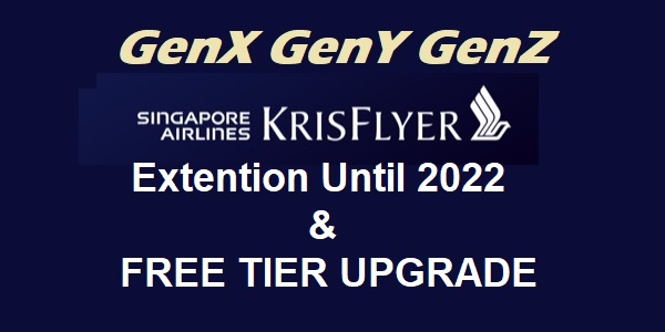KrisFlyer Miles Extension Until 2022 and Iter Upgrade